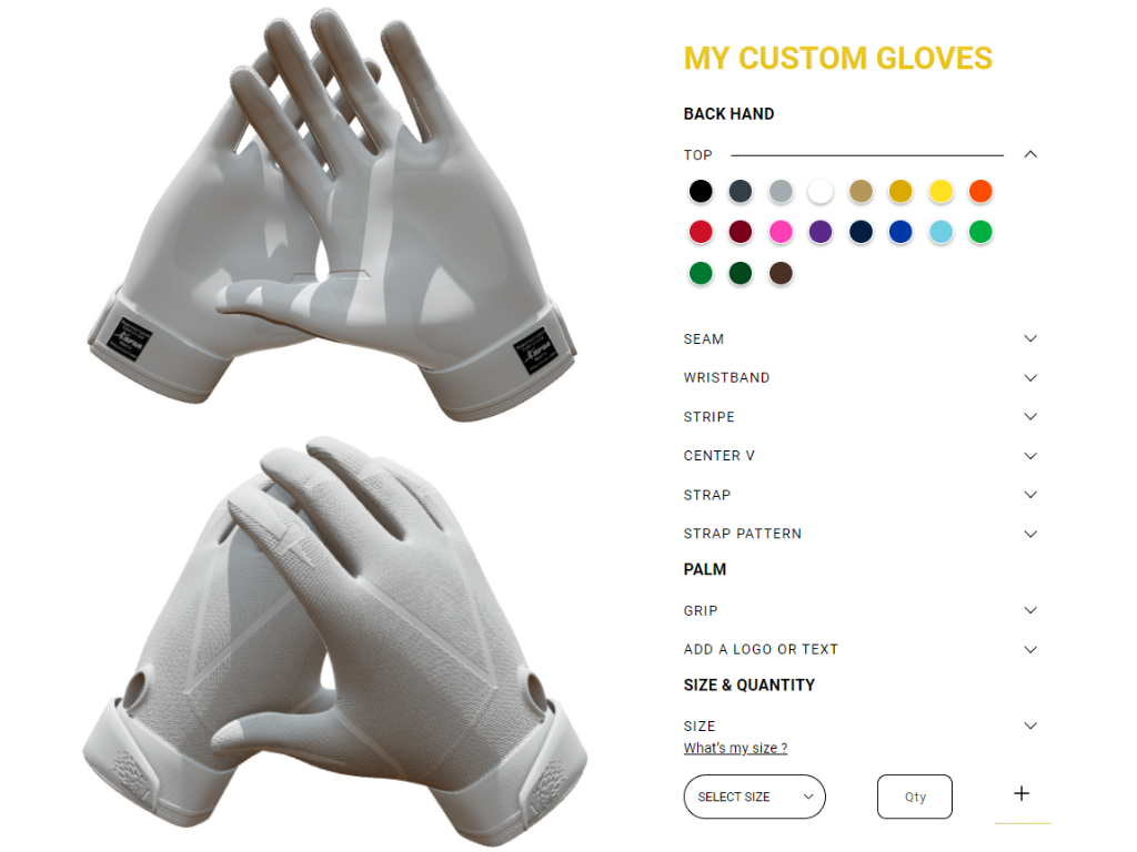 Do you want to create your own designed football gloves